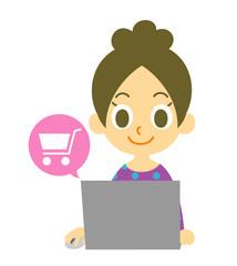 オンラインショッピング 女性