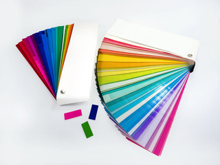 Colorful paper samples