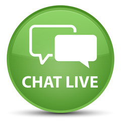 Chat live special soft green round button