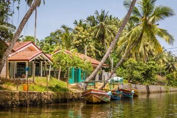 Landscape Dutch canal in Negombo, Sri Lanka