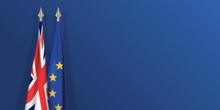 drapeau - Grande Bretagne - européen - Brexit - présentation - fond