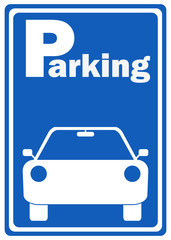 Parking sign, car parking.