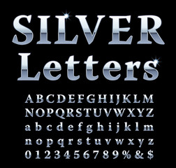 silver fat letters