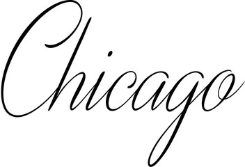 chicago text sign illustration