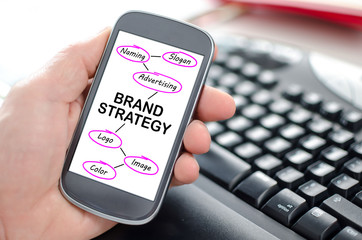 Brand strategy concept on a smartphone