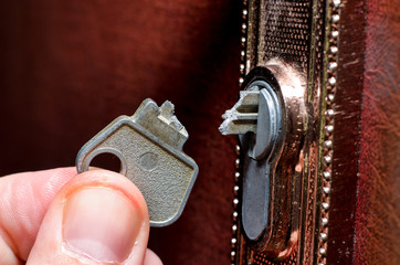 The broken key in the lock