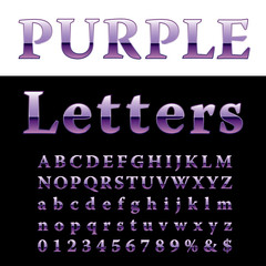 fat purple letters