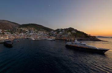 Yachting life at Hydra island , saronic