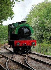 A Classic Small Vintage Railway Steam Engine.