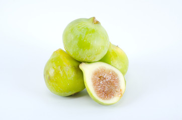 Figs on white background.