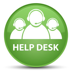 Help desk (customer care team icon) special soft green round button