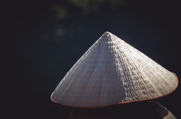 close up on traditional vietnamese hat