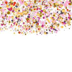festive confetti background upper part transparent background