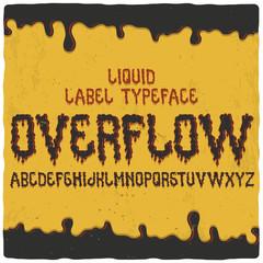 Original label font