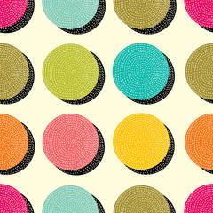 Cute seamless pattern, polka dot fabric, wallpaper, vector. Tile vector pattern with big polka.