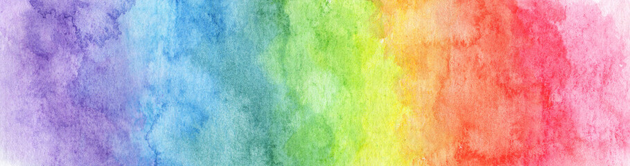 Colorful Rainbow watercolor background - abstract texture Wall mural