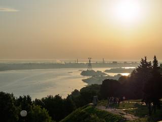 volga river at sunrise