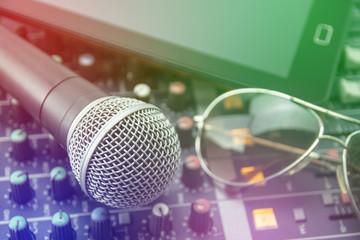 Retro Microphones and recorders.