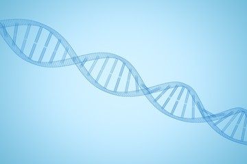 Composite image of 3d image of dna