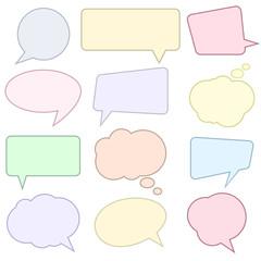 Speech bubbles set, comics style