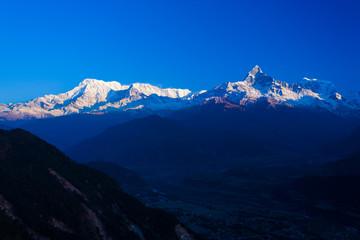 Annapurna Himalayan Mountain Range Dawn Peaks