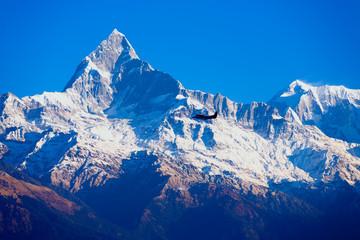 Machapuchare Himalaya Mountain Flying Airplane