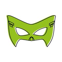 mask superhero icon image vector illustration design  green color