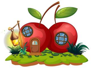Cherry house with lantern