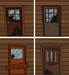 Broken windows and doors