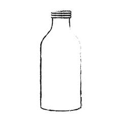 glass bottle icon image vector illustration design  black sketch line