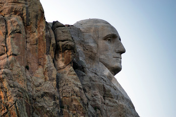 George Washington Progile Granite Rock Mount Rushmore South Dakota