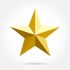 Golden star icon vector illustration