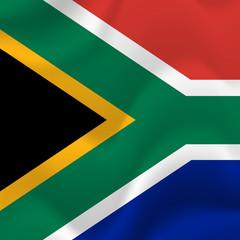 South Africa waving flag. Vector illustration.