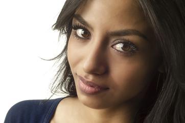 Beautiful face of young latina woman