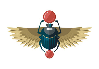 Egypt scarab with wings