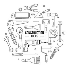 construction tools icon set icon vector illustration graphic design