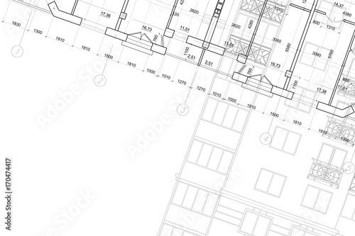 Background Of Architectural Drawing Stock Photo And Royalty Free