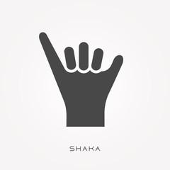 Silhouette icon shaka