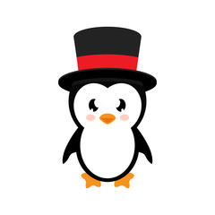 cartoon penguin with hat
