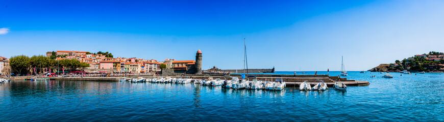 Panorama de Collioure la perle de la côte vermeille