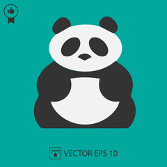 Panda vector icon eps 10. Simple isolated illustration.