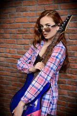 girl loves rock music