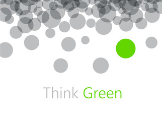Think green abstract background.