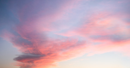 Beautiful pastel cloudy sunset