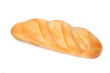 wite bread on white background