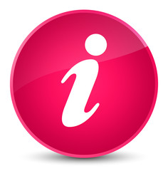 Info icon elegant pink round button