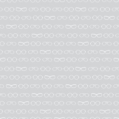 Vector silver grey and white glasses texture accessories stripes seamless pattern. Great for eyewear themed fabric, wallpaper, packaging.