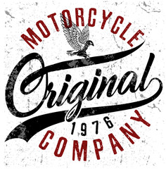Motorcycle typography; t-shirt graphics; vectors