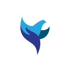 Initial F Logo Falcon