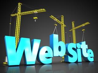 3d website blue color over black